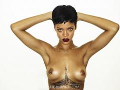 Rihanna - 'Unapologetic' (2012) topless photoshoot outtakes